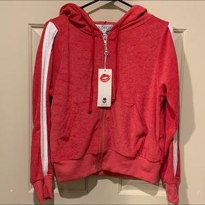 Wildfox sport carta zip hoodie NWT